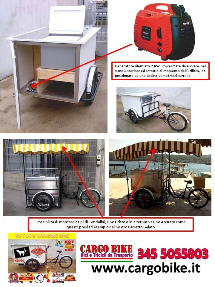 Hot Dog Street Food Cart On A Tricycle Cargo Bike For Coocking FOOD In The Is Simple And Inexpensive To Sale Peddler