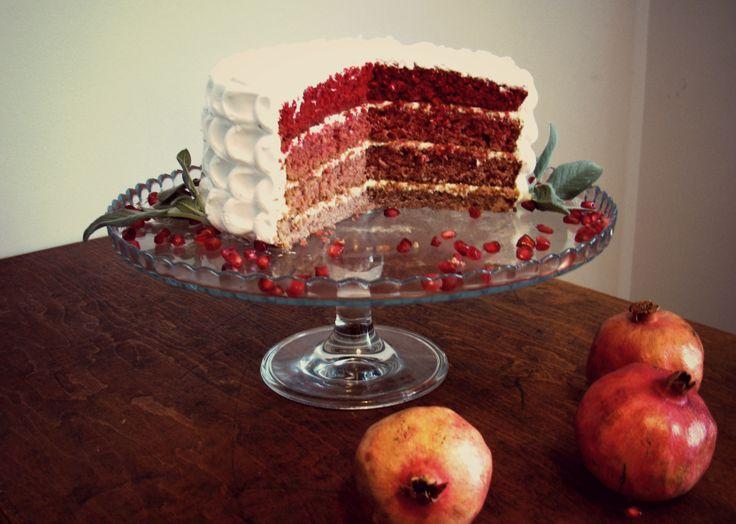 Red velvet ombre cake
