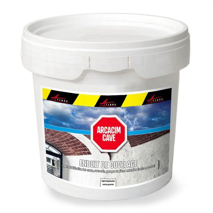 Enduit d'étanchéité cave ARCACIM CAVE assure un cuvelage imperméable - Revêtement résistant à la contrepressionsous-sol, fondation, fosse d'ascenceur. il s'applique sur le béton, enduit ciment, parpaing, briques, pierre
