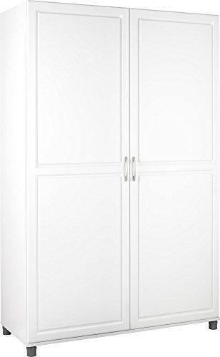 Systembuild Kendall 48 Wardrobe Storage Cabinet White Stipple
