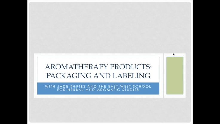 Learn about Aromatherapy Products: Packaging and Labeling. For additional information and pdf file of webinar and other information please visit here: http://theida.com/aromatherapy-education/aromatherapy-products-packaging-and-labeling