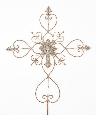Another great find on #zulily! Ornate Hearts Cross Garden Stake #zulilyfinds