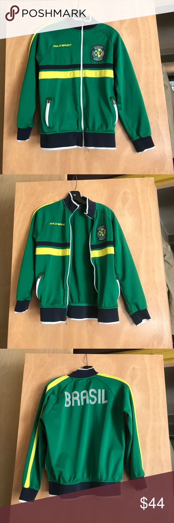 Polo Sport Ralph Lauren Boys size M Green and Yellow Polo Sport Ralph Lauren sweatshirt size M excellent condition Polo by Ralph Lauren Shirts & Tops Sweatshirts & Hoodies