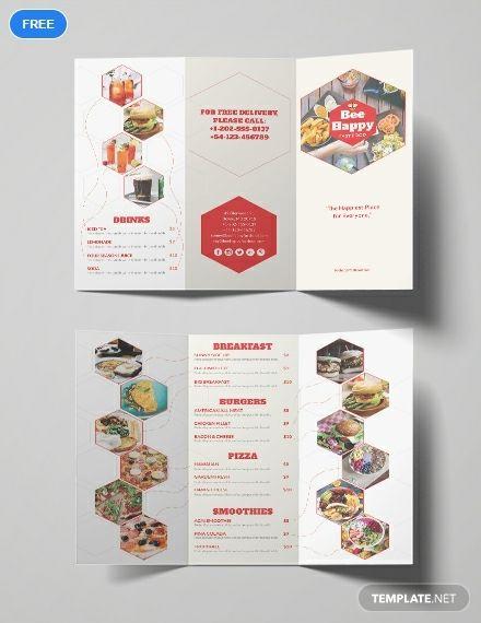 free fast food brochure brochure templates design 2019