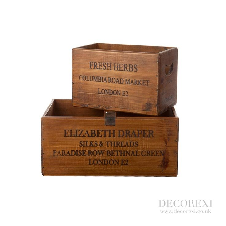 Fresh Herbs & Elizabeth Draper Set of 2 Boxes