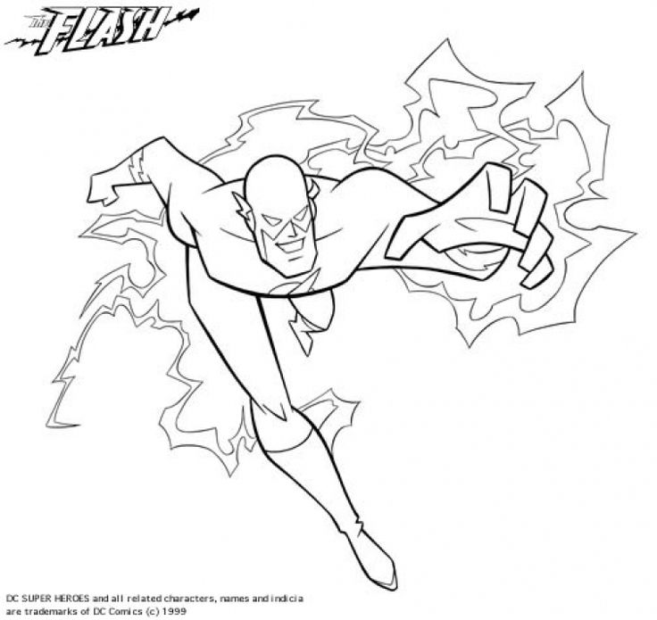 superhero the flash coloring pages - photo#22