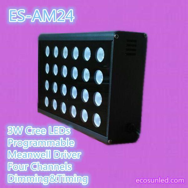 Programmable 24x3W Nano Coral LED aquarium Light with cree led sunrise sunset #EcoSunLED