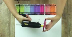 Uma chuva de cores! Arte com giz de cera. Ideia genial!