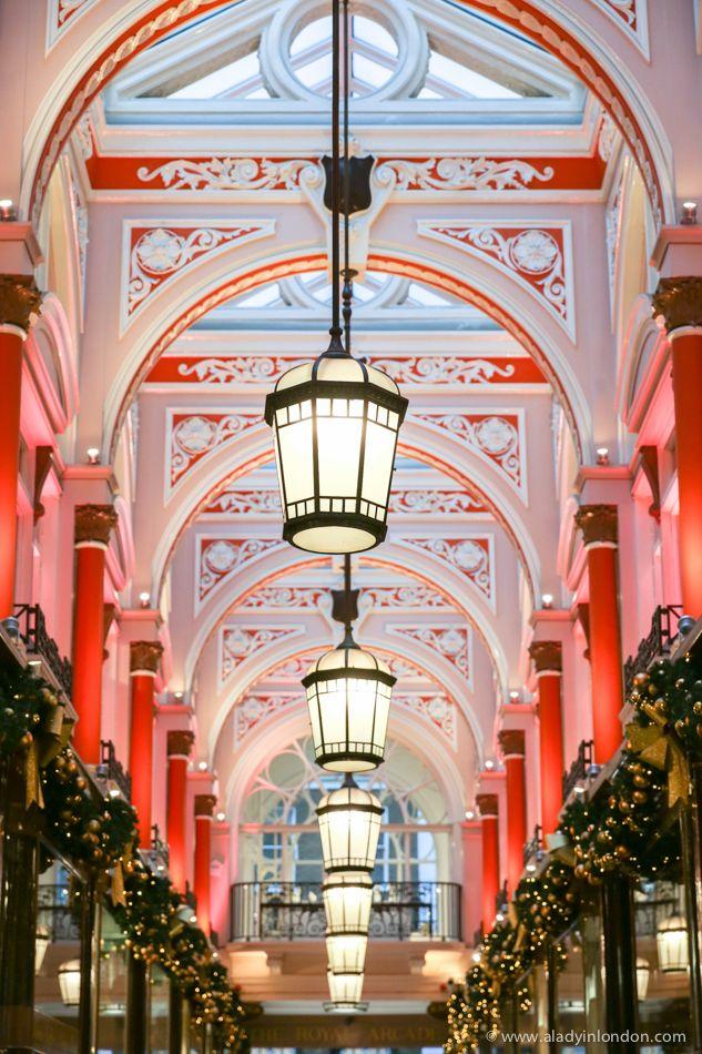 London's Royal Arcade at Christmas