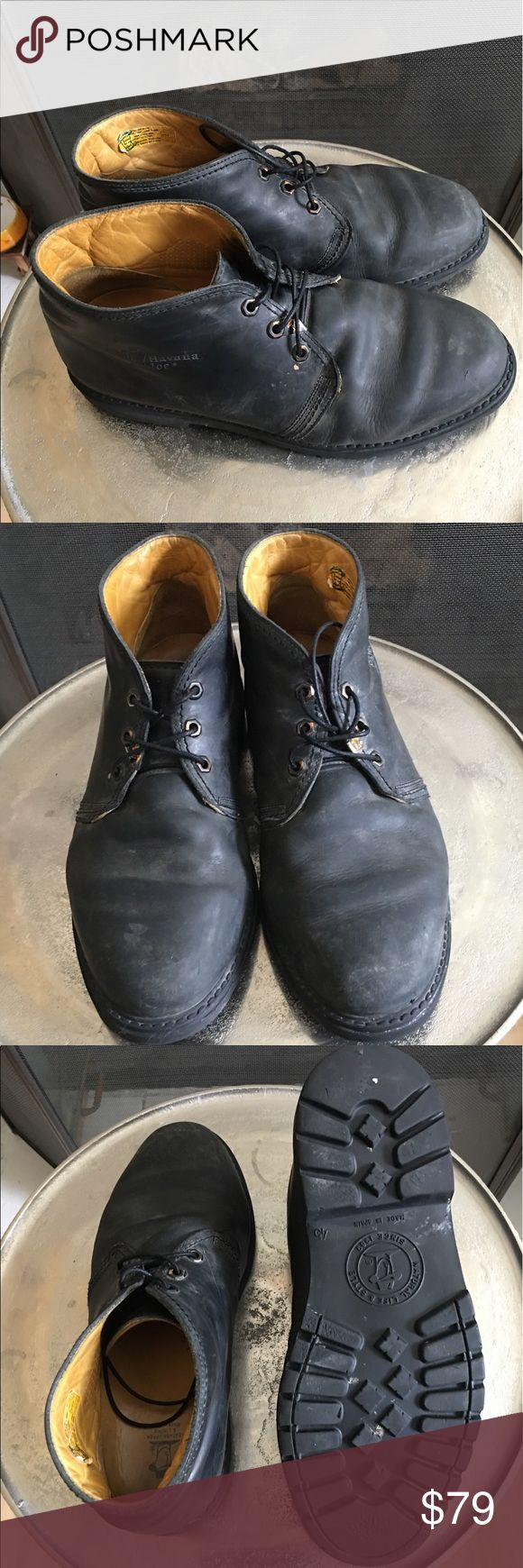 Men chukka boot Casual black men's chukka boot with waffle sole super comfortable made in Spain great construction they may be re sole - Havana Joe havana joe Shoes Chukka Boots