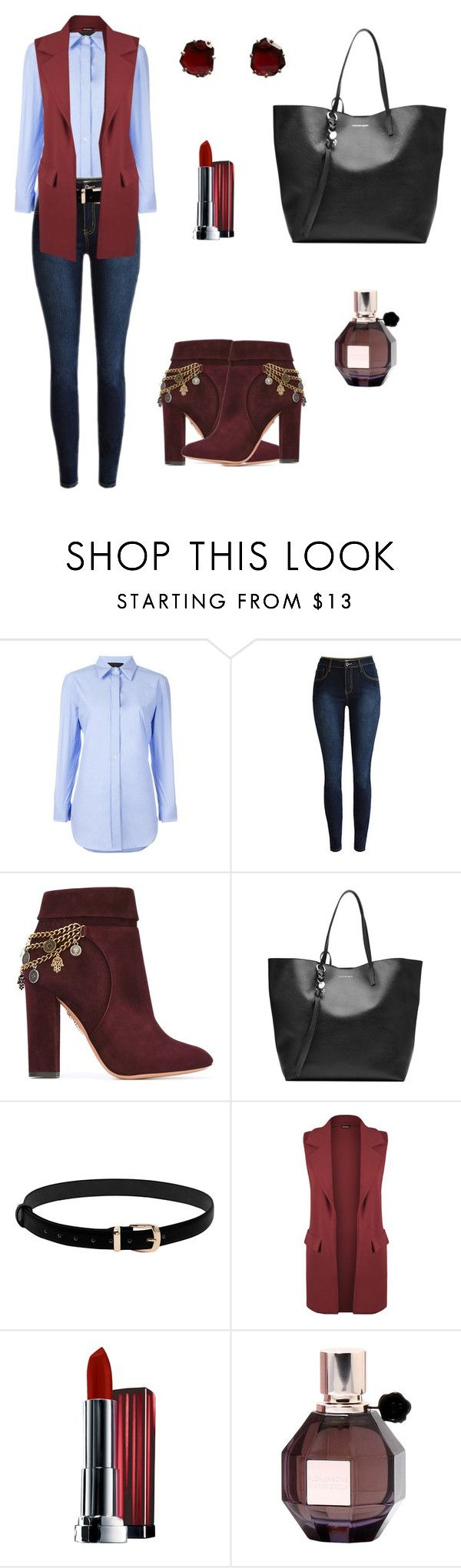 """""""Untitled #392"""" by mariafilomena471 ❤ liked on Polyvore featuring Erika Cavallini Semi-Couture, Aquazzura, Alexander McQueen, WearAll, Maybelline, Viktor & Rolf and Annoushka"""