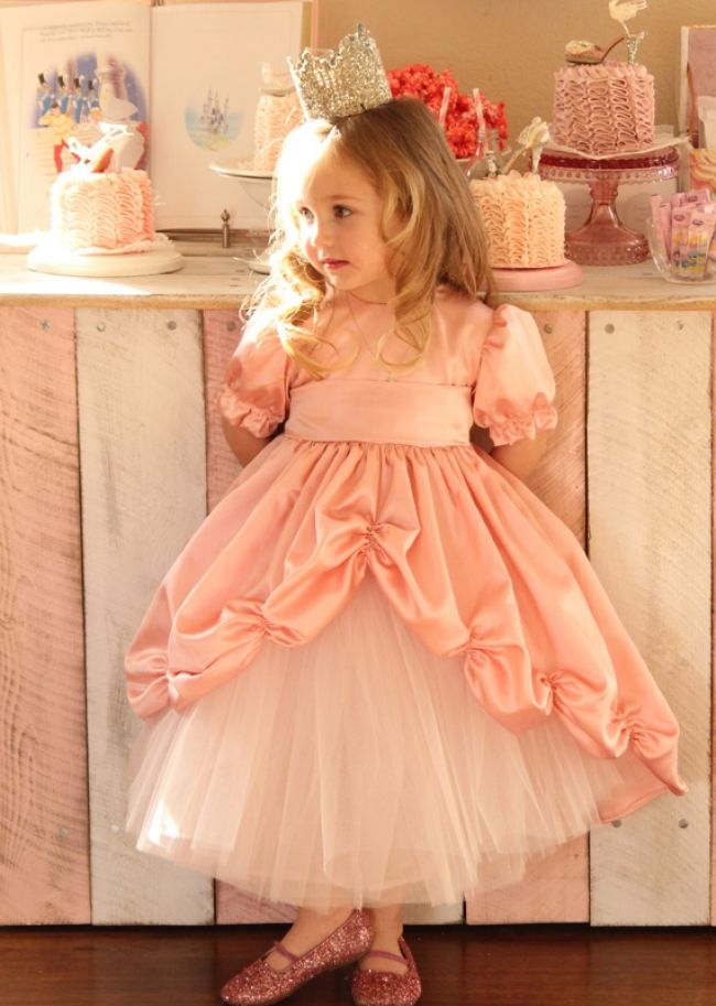 GOTD Girls Kids Full Lace Floral Tulle One Piece Dress Princess Party Dress VE6XzPuK
