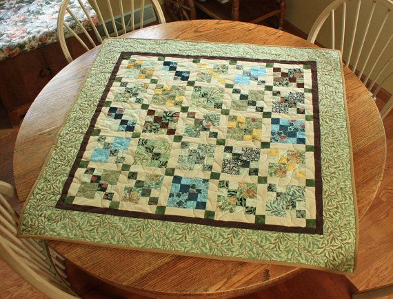 Quilted Table Runner Small Quilt William by MulberryPatchQuilts