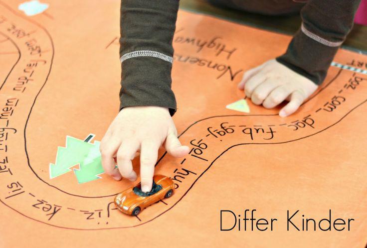 A Differentiated Kindergarten: Differentiated Kindergarten Nonsense Word Fun and Freebies!  Nonsense Word Highway!!!!