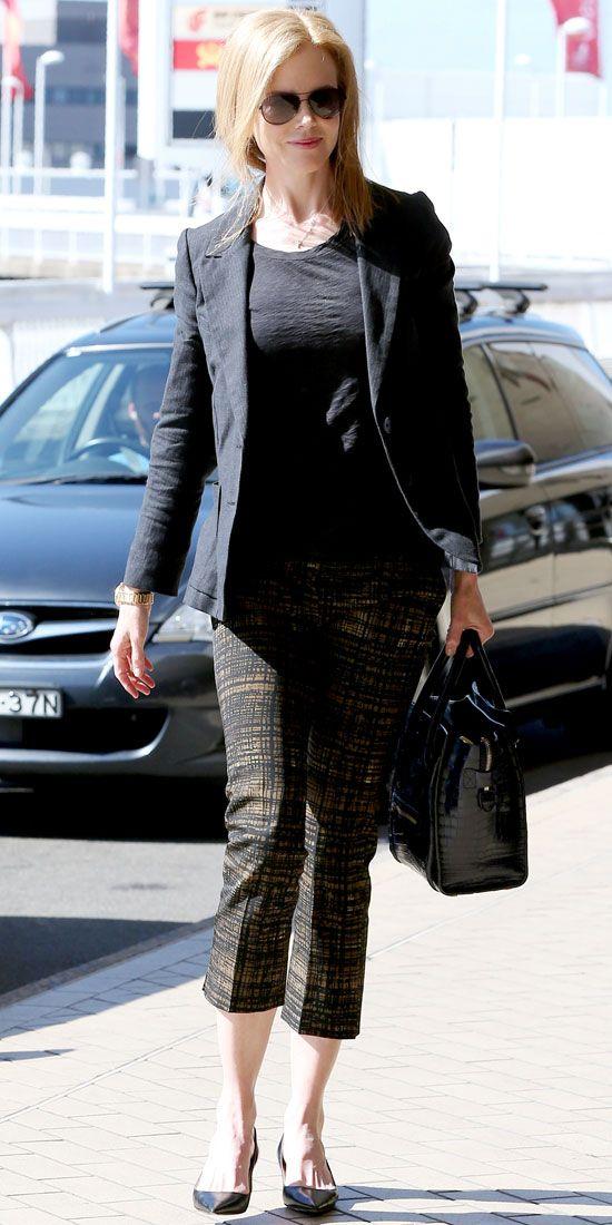 Nicole p black dress capris
