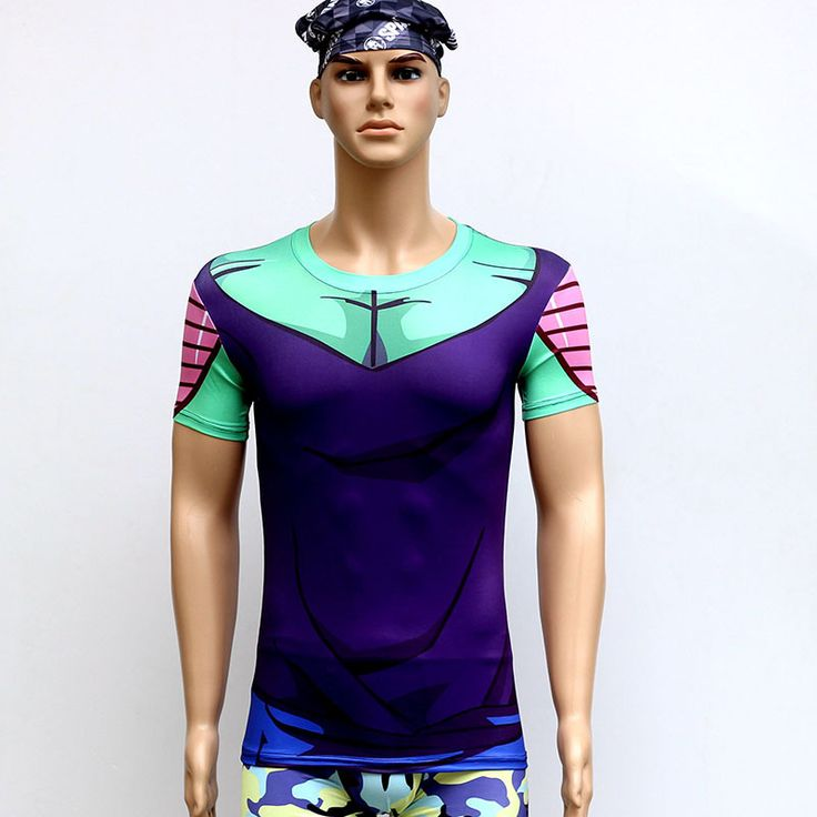 Dragonball Quick Dry Anti Ultraviolet Short Sleeve T-Shirt Sweat Tight Clothing Outdoor Cycling Suit Sportswear Bicycle Clothing
