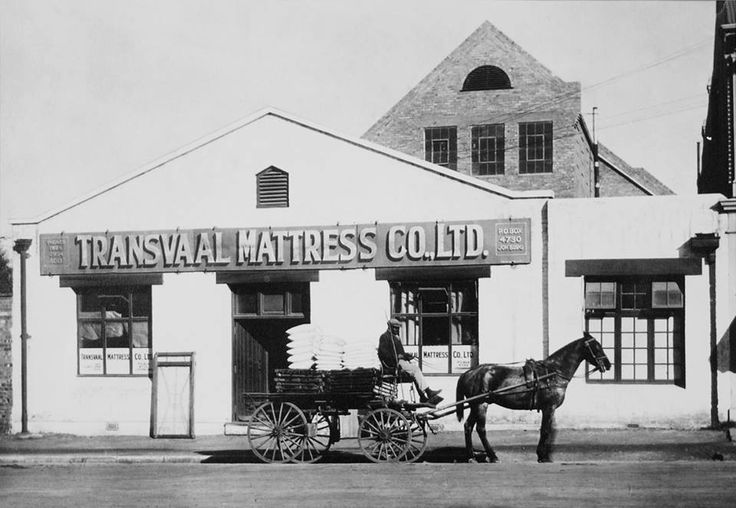 The Transvaal Mattress Company was formed in 1895. It later manufactured the first Sealy mattresses in South Africa (With acknowledgement to Friedel Hansen)