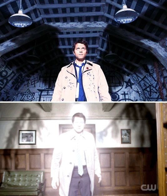 4.01//10.18 Look how broken and damaged his wings are now.. #Supernatural #Castiel