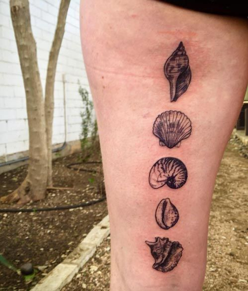 Shell Tattoo Designs by David Poe