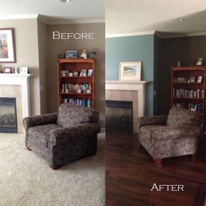 Just The Beginning Of A Living Room Remodel... More To Come.