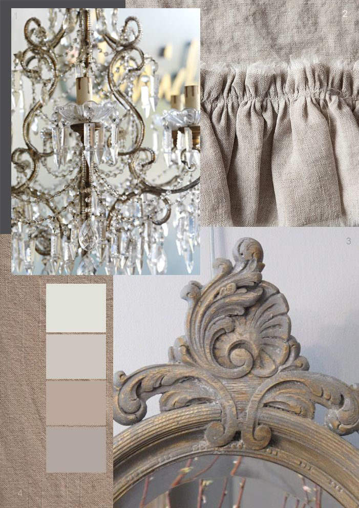 Color Beauty: Taupe. Cream. Greige. Gray - Grey via The Paper Mulberry: French Dressing - for the Bedroom!