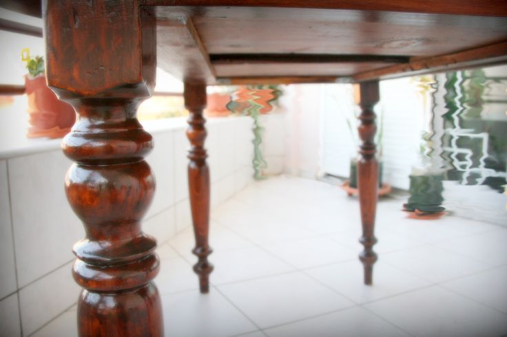 Dining table - after the recovery - restoration