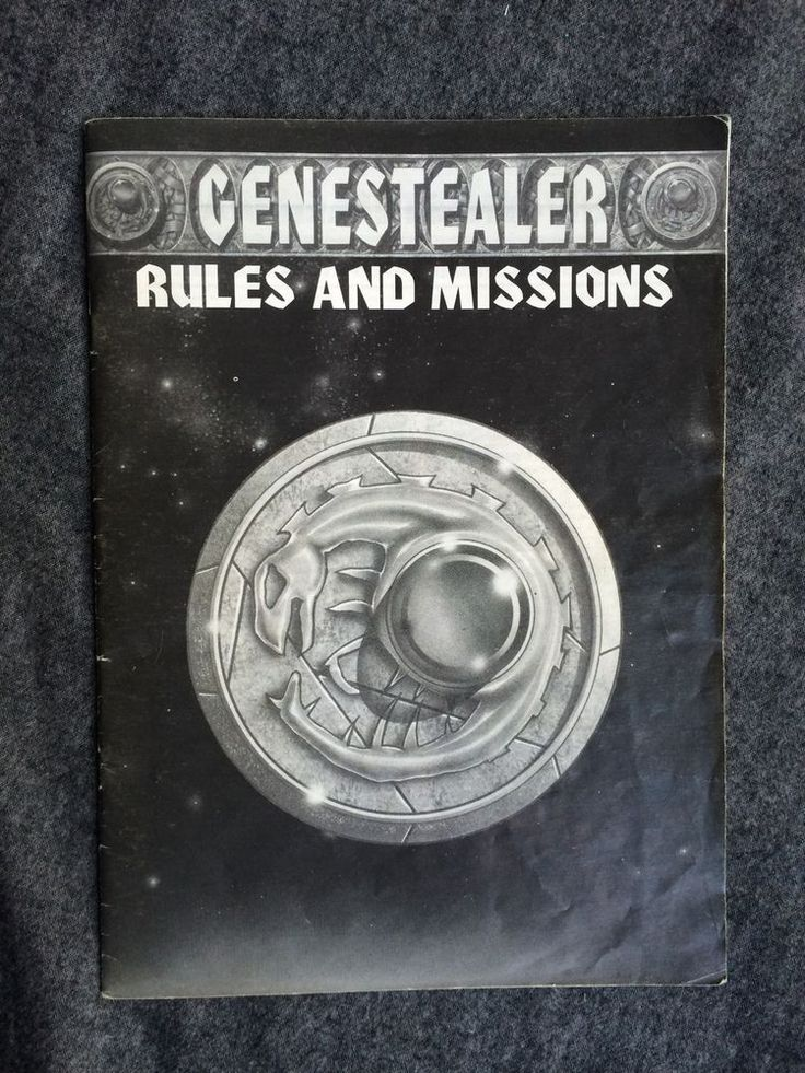 Warhammer 40k Space Hulk First Edition Boardgame Genestealer Rulebook Gw #CitadelMiniatures