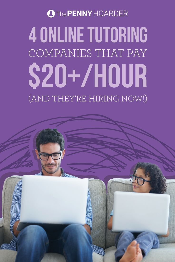 Pass on your knowledge! These five online tutoring jobs are hiring right now -- and they pay at least $20 per hour. /thepennyhoarder/