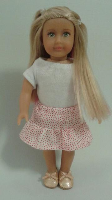 Clothes for Mini American Girl doll - Ruffle Skirt