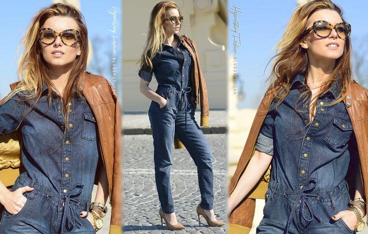 Hypnotizing Fashion - street style, blog stylizacje i moda: New 70' stylizacja wiosna 2015   kombinezon jeanso...