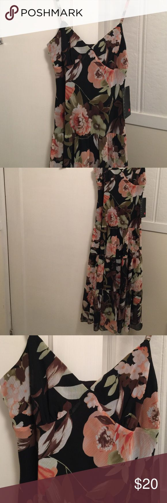Scarlett dress, new with tags, lined Scarlett dress, beautiful, new with tags, lined with black slip, flows nicely, great for any occasion! Scarlett Dresses Midi