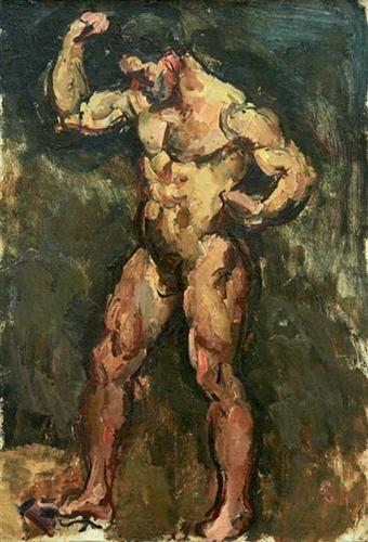 Modelo (Натурщик, 1928) Pyotr Petrovich Konchalovsky (Пётр Петро́вич Кончало́вский. Unión Soviética. Rusia, 1876-1956)