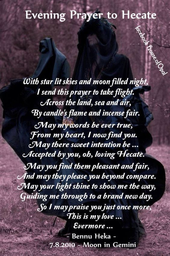 Evening Prayer to Hecate                                                                                                                                                                                 More