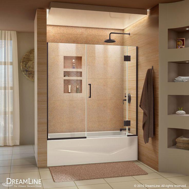 DreamLine Unidoor-X 58-in W x 58-in H Frameless Bathtub Door