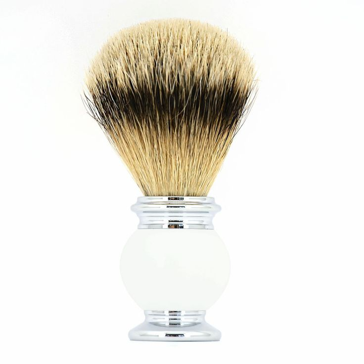 ZY Pure Silvertip Badger Shaving Beard Brush Men Barber Shave Beard Razor Soap Brush  #Affiliate
