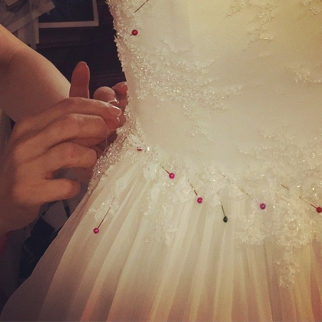 Busy day at our atelier #parlorstudio #parlordress #parlorwedding #workinprogress #newcollection #demicouture #lace #handmade #embroidery #silk #doingfashion #design #parlordress