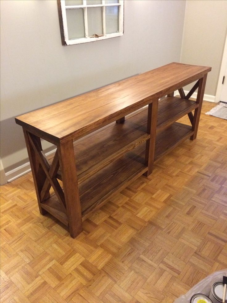 Rustic Furniture Diy diy rustic sofa table - pueblosinfronteras