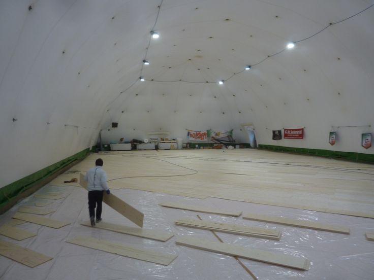 Per l'impianto sportivo in provincia di Alessandria Dalla Riva Sportfloors ha scelto un parquet in rovere adatto alla sovrapposizione su resiliente