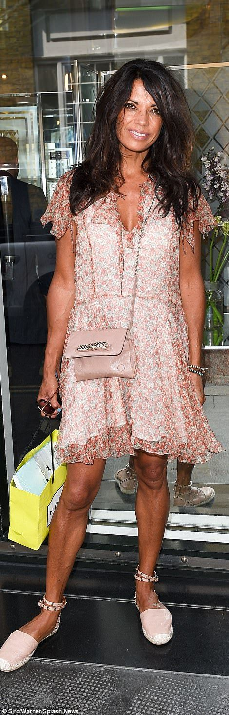 Keeping it casual: Lorraine Kelly looked low-key in flip-flops while Jenny Powell rocked a pair of studded Valentino espadrilles