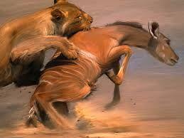 1. De kunstenaar beeld strijd uit door middel van een dierengevecht. de twee dieren zijn in gevecht met elkaar.   2. Om dit te accentueren gebruikt hij een vrij rustige achtergrond. hij beeld die dieren heel realistisch uit en de linkerleeuw in een strijdlustige houding, terwijl de ander vreest voor de dood.