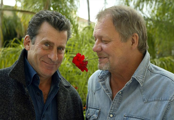 """Paul Michael Glaser, left, and David Soul, debuted as """"Starsky & Hutch"""" on this date in 1975. The ABC detective series ran only four seasons, but made its mark on pop culture with distinctive characters such as Huggy Bear (Antonio Fargas) and the red and white Ford Gran Torino driven by Starsky. Glaser and Soul made cameos in the 2004 movie version starring Ben Stiller and Owen Wilson."""