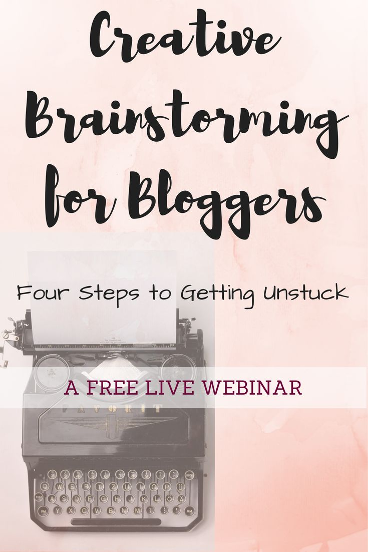 Register NOW for this free webinar for bloggers. Get strategies and motivation to help you come up with your next big idea! Full of value and tons of fun!