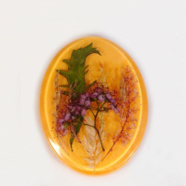 Kaboszon z naturalnych kwiatów. - Vitalijsky - Kaboszony plastikowe