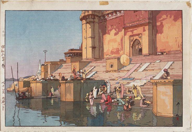 「ベナレスのガット」Ghat in Benares - 昭和6(1931)年
