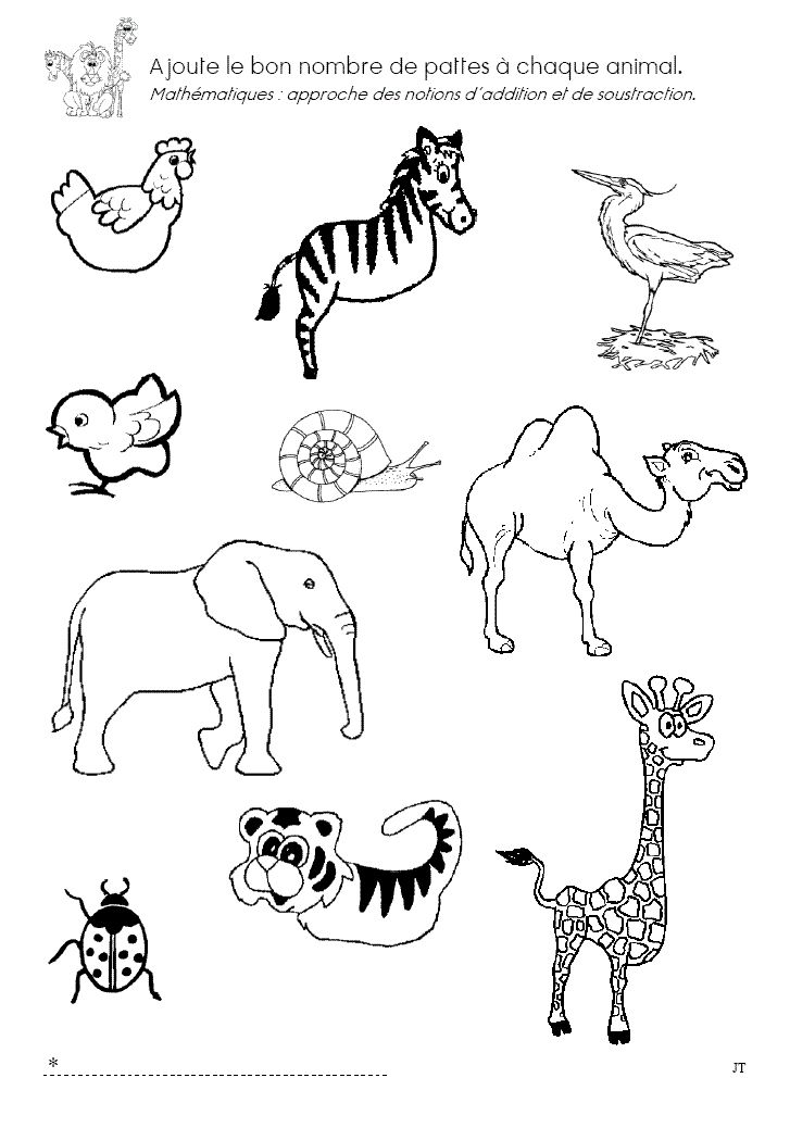 educational coloring pages zoo animals - photo#37