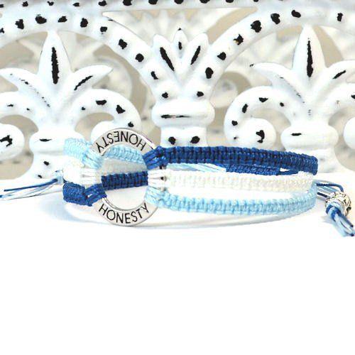 Triple strand macrame bracelet