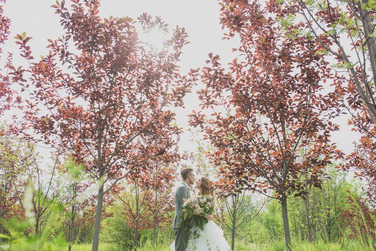 Elyse   Brent: Elegant Garden Wedding. Bride & Groom