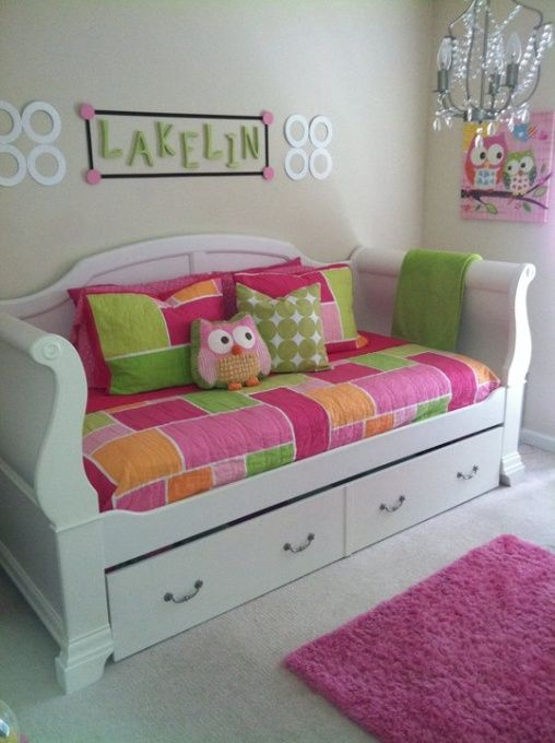 Cute And Colourful Kids Couch Wonder If This Pulls Out To A Larger Sized Bed Nifty In 2018 Pinterest Room Bedroom Gir