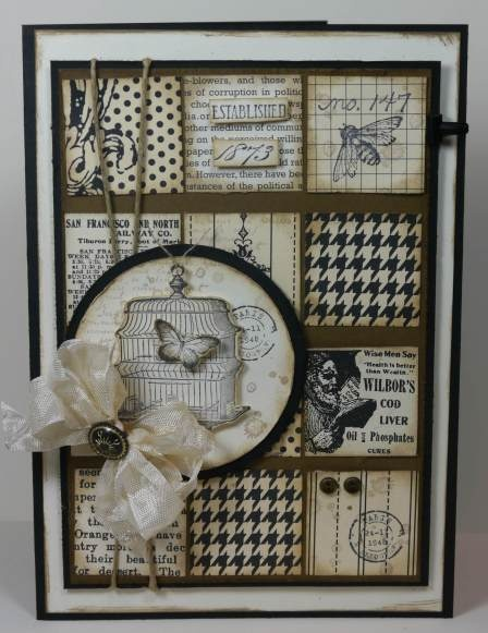 """♥♥♥ this gorgeous monochromatic card featuring Stampin' Up! products """"Nature Walk"""", """"French Foliage"""", and """"Established Elegance""""."""
