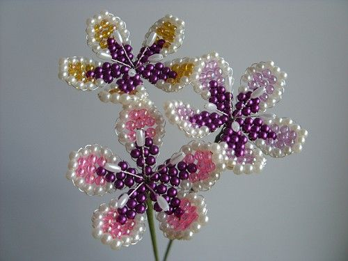 beading more flowers